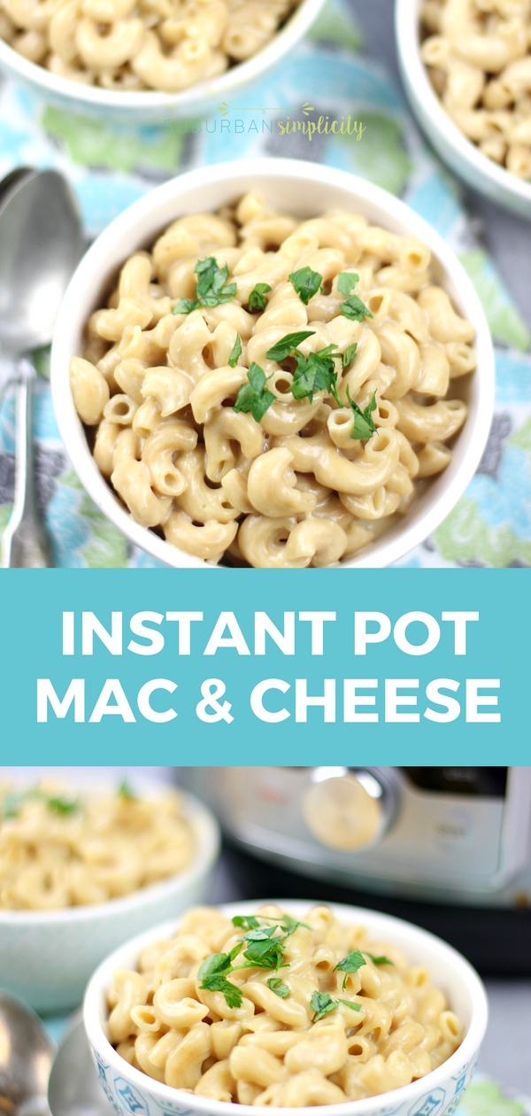 Instant Pot Macaroni and Cheese is a super simple recipe idea your family will devour! Four minutes of cooking time and you have a creamy and delicious ready to serve weeknight dinner. #instantpot #macandcheese