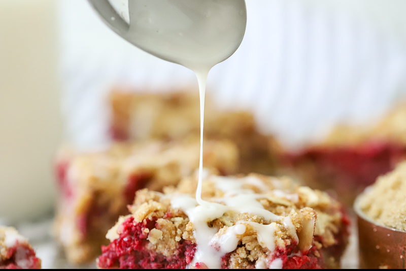 Oatmeal Bars with drizzle topping