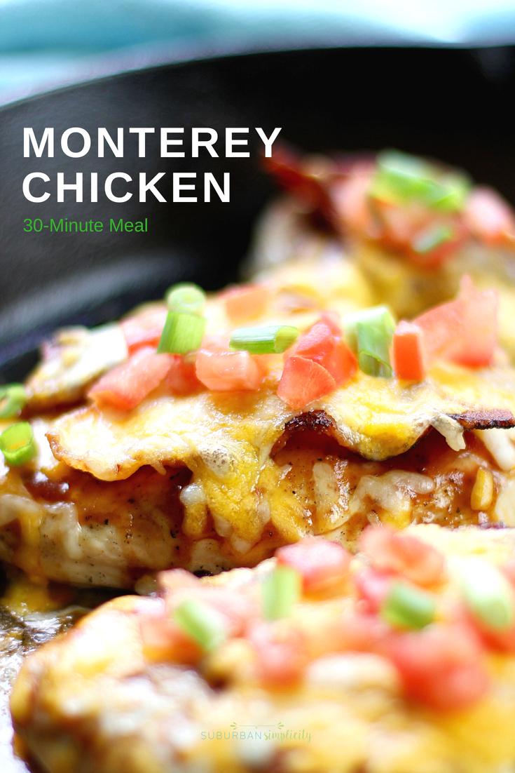 A one-pan dinner - Monterey Chicken