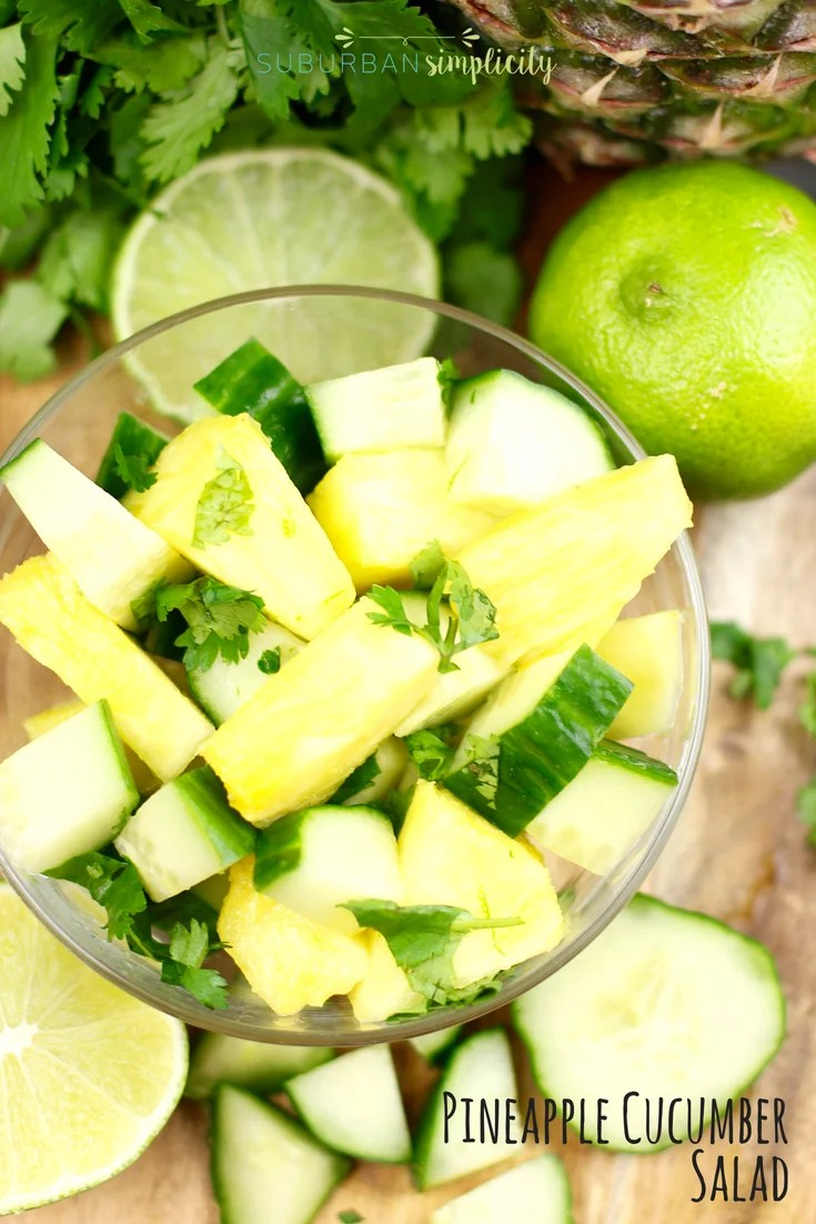 Pineapple Cucumber Salad Recipe in a bowl.