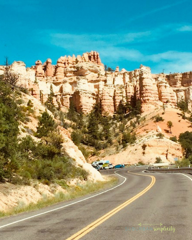 Open road on an RV Trip