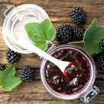 Blackberry jam with chia seeds