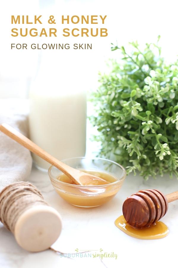 Milk and honey sugar scrub