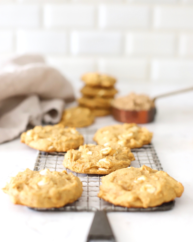 These Pumpkin Spice Cookies are perfect for fall. A pumpkin cookie recipe that's almost impossible to not eat warm from the oven!