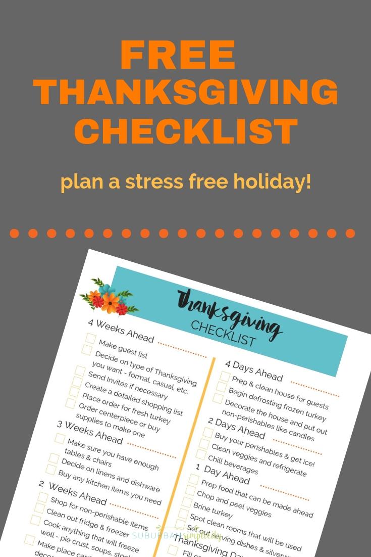 Thanksgiving checklist image