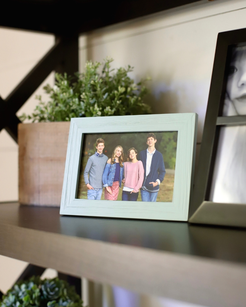 Picture frame for decorating a living room.