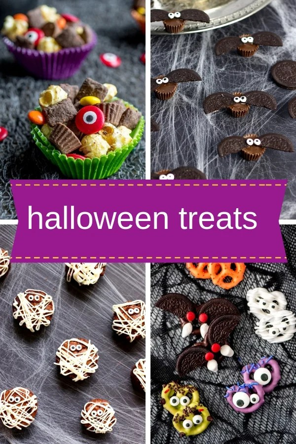 Enjoy these Easy Halloween Treats that are frighteningly easy and delicious at your Halloween Bash or class party! Kids love 'em!