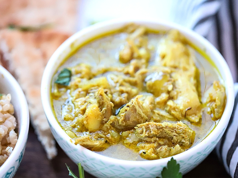 Chicken Curry fresh out of the crock pot.