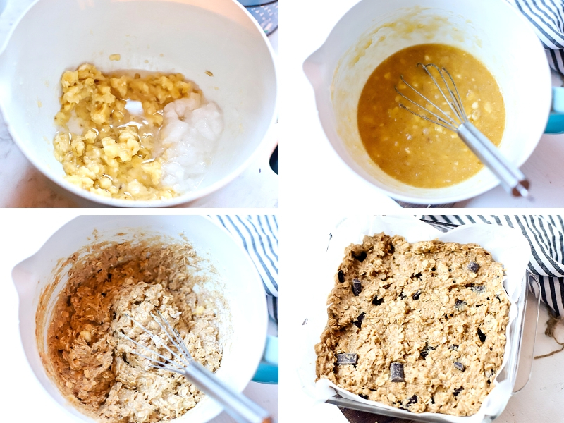 How to make Oatmeal Banana Bars