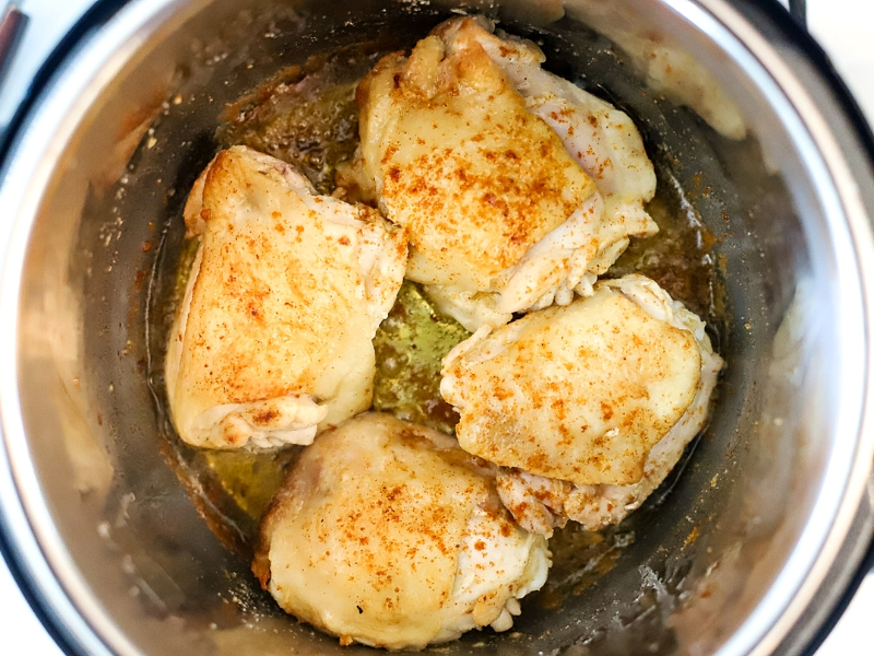 Lemon Chicken going into the Instant Pot