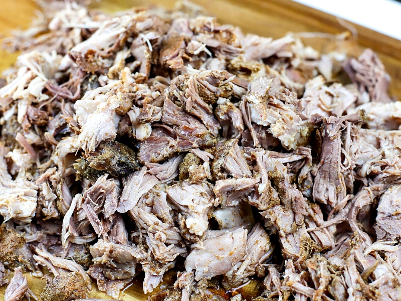 Shredded Crock Pot Pulled Pork
