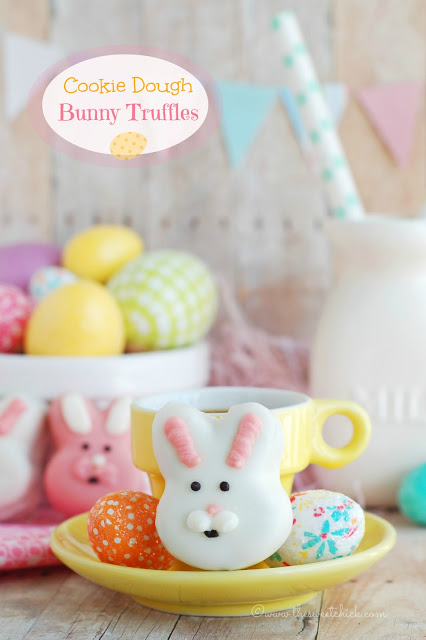 Cookie Dough Bunny Truffles