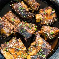 Slow Cooker Korean Short Ribs {Gluten-free}
