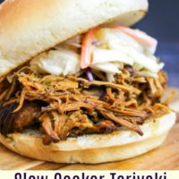 Slow Cooker Chicken Teriyaki Sandwiches and Pineapple Slaw