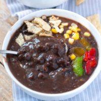 Chipotle Vegan Black Bean Soup | Instant Pot and Slow Cooker Recipes