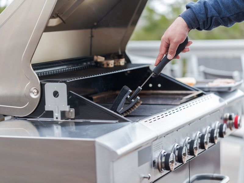 How to clean a grill.