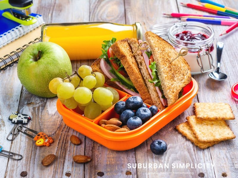 Tips for stress free school lunch prep