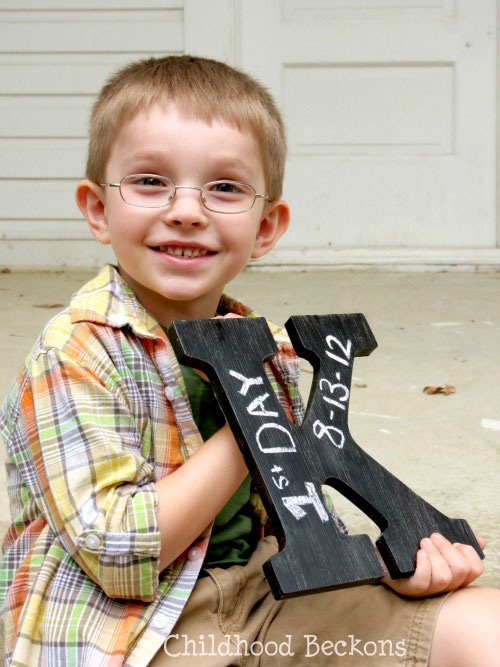 First day of school photo ideas with DIY Creations