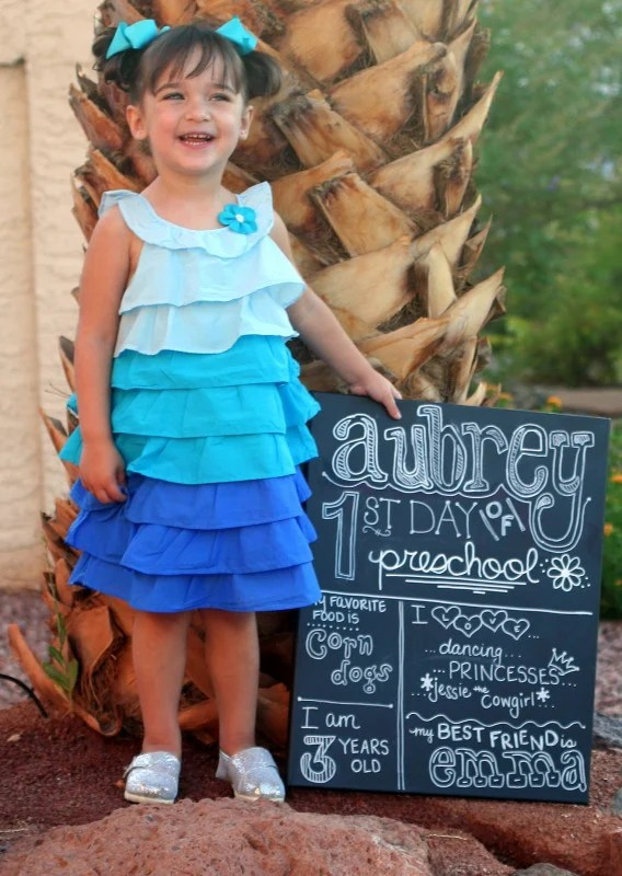 Celebrate your childhood milestone and use one of these First Day of School Photo Ideas to capture the moment!