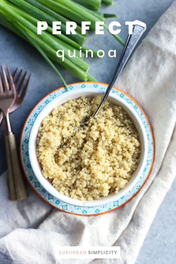 Here's how to Cook Quinoa Perfectly every time! Fluffy, nutty and never bitter, this recipe is simple and easy and makes a wonderful side dish in about 20 minutes.