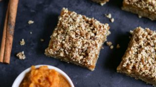 No Bake Pumpkin Crumble Bars