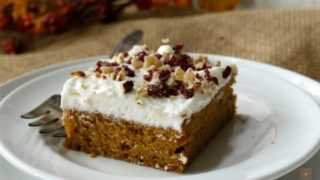 Spicy Pumpkin Sheet Cake with White Chocolate Cream Cheese Frosting