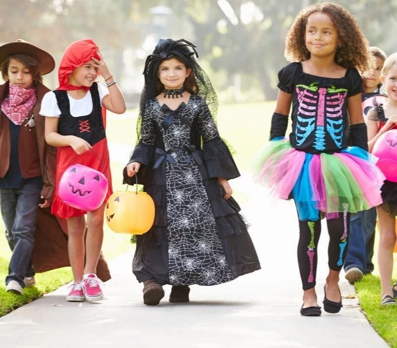 A group of kids in costumes