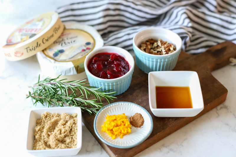 Ingredients for Baked Cranberry Brie