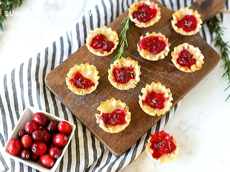 Bite-sized cranberry appetizers for the holidays