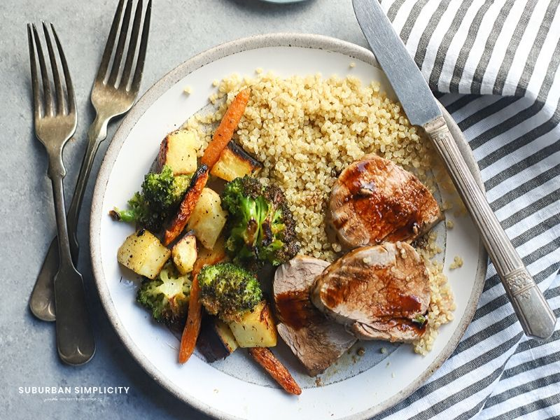 This Italian Marinated Baked Pork Tenderloin is a perfect weeknight meal. Ready in under 30-minutes, this meal is loaded with flavor!