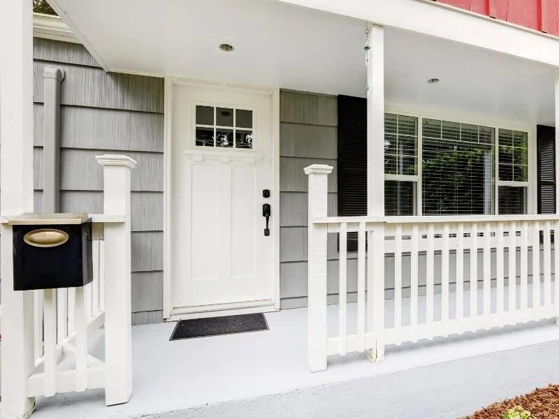 Clean white door