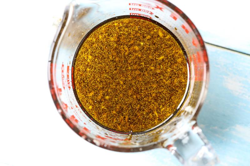 sauce for honey garlic chicken in a bowl