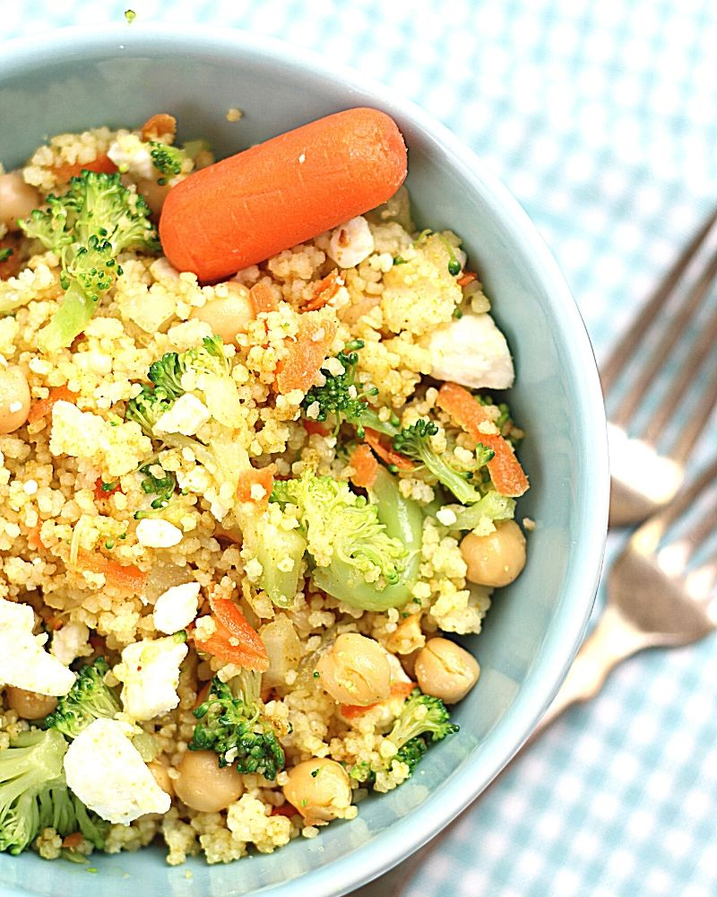 Curried Couscous salad in a bowl