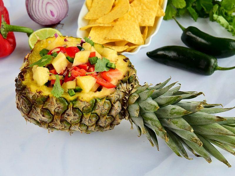 Pineapple serving bowl