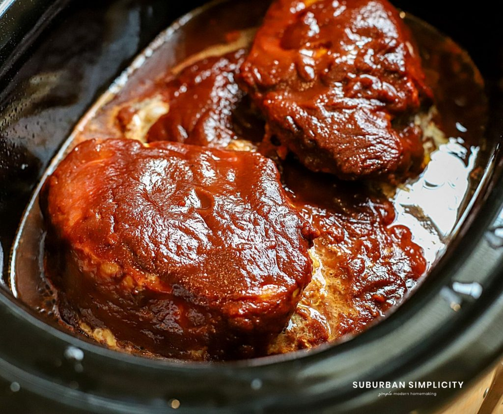 Pork chops in the slow cooker