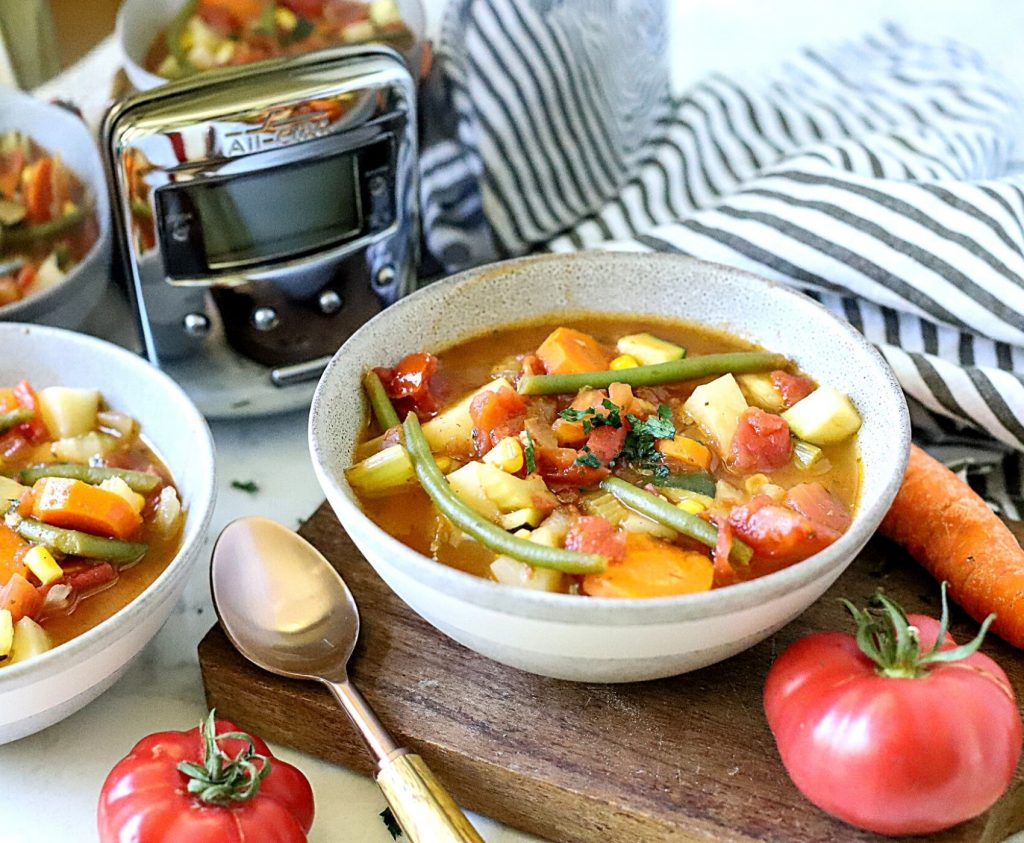 vegetarian soup in a bowl