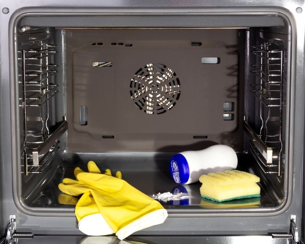 inside of any oven with cleaners
