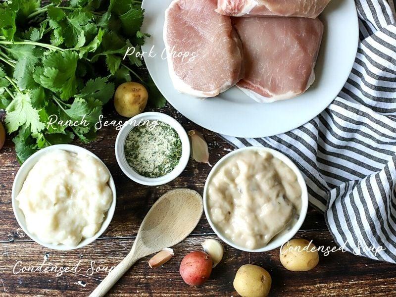 çiftlik domuz pirzolası malzemeleri