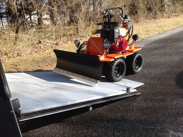 Sidewalk operations -- loading a Snowrator ZX4 onto a trailer