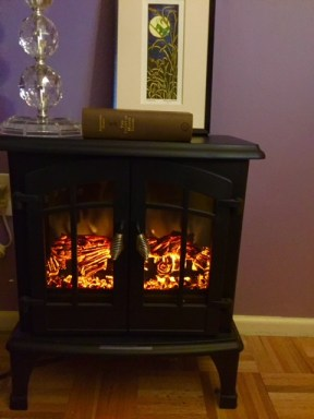 You can beat the winter blues with an electric woodstove