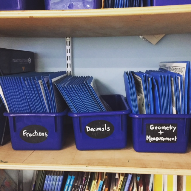 I keep all my classroom games in color-coded tubs.