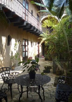 Courtyard of the El Beaterio Hotel in Santo Domingo