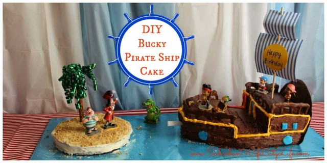 3D Bucky Pirate ship cake
