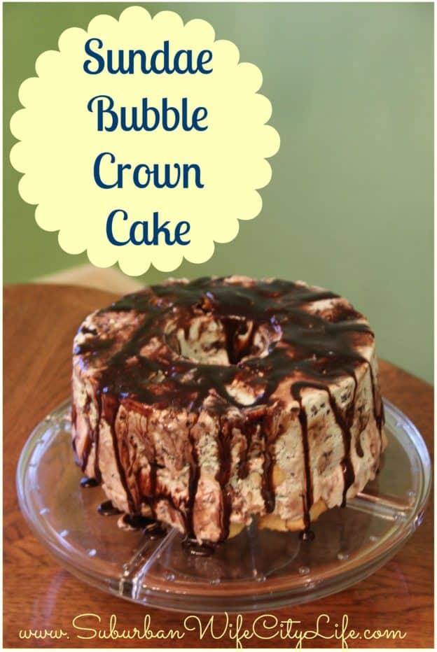 Sundae Bubble Crown Cake