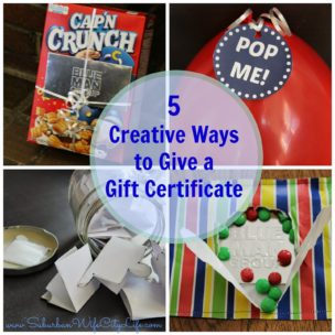 Creative Ways to give a gift certificate