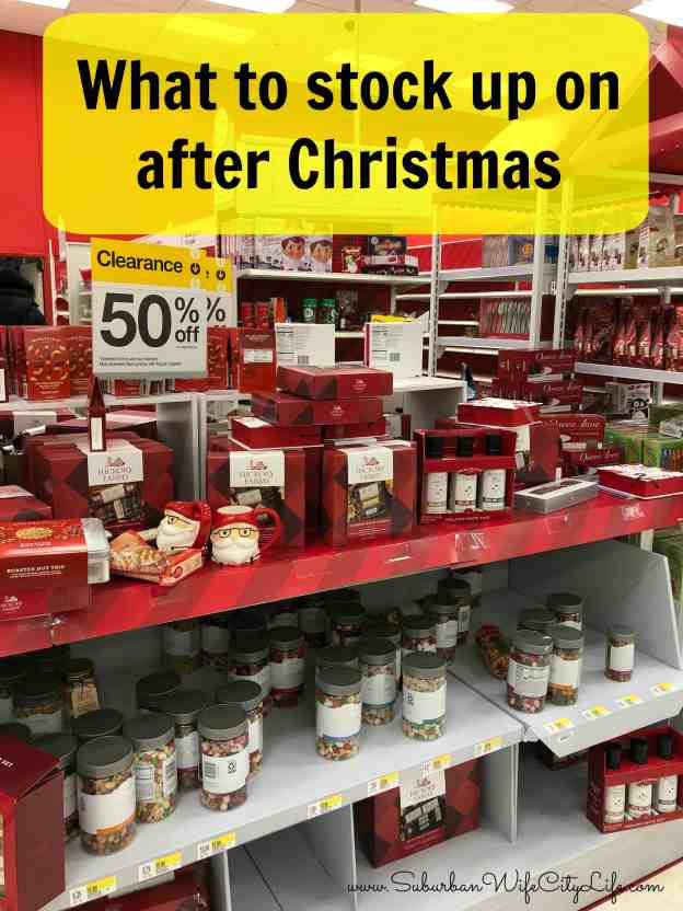 What to stock up on after Christmas
