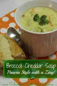 Broccoli Cheddar soup Panera Style with a Zing