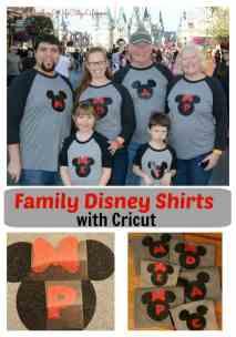 DIY Family Disney shirts with Cricut
