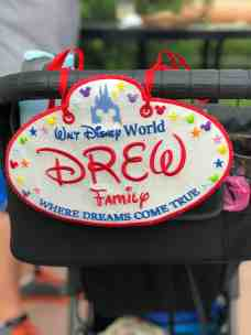 Disney Stroller sign