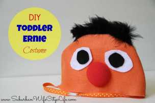 DIY Toddler Ernie Costume